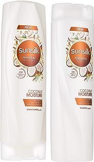 Sunsilk Shampoo Coconut Moisture, 400ml & Sunsilk Conditioner Coconut Moisture, 350ml
