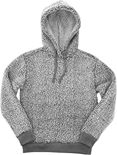 Adult Sherpa Pullover Hoodie-Frosty Grey-Small