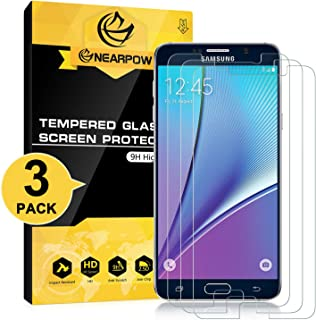 NEARPOW [3 Pack] Samsung Galaxy Note 5 Screen Protector, [Tempered Glass] Screen Protector with [9H Hardness] [Crystal Clear] [Easy Bubble-Free Installation] [Scratch Resist]