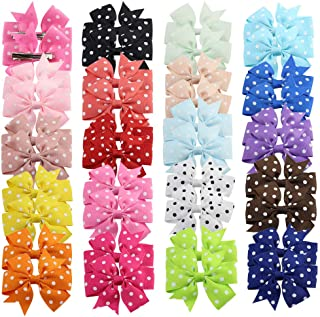 40 Pcs/20 Pairs Baby Girls Hair Bow Clips Grosgrain Ribbon Barrettes for Infants Newborn Toddlers by JIAHANG
