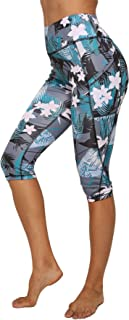 Leggings 3/4 Mallas Pantalones de Alta Cintura Elástica Súper Transpirable Adelgazante Secado Rápido de Yoga Deportivas Leggins para Mujer