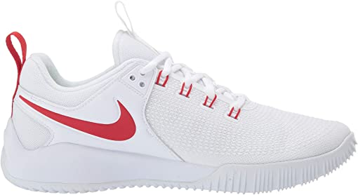 White/University Red