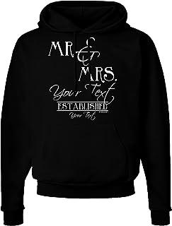 TOOLOUD Personalized Mr and Mrs -Name- Established -Date- Design Dark Hoodie Sweatshirt