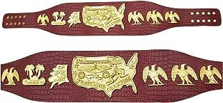 USA Heavy Weight Championship Belt Gold Plating Genuine 3MM Crocodile Leather