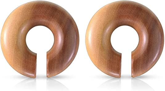 Covet Jewelry Organic Coconut Wood Curved Taper