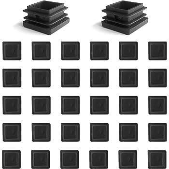 para tubos cuadrados dimensiones exteriores 20x20 mm negras 20 tapas