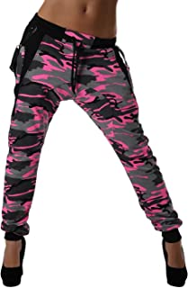 Crazy Age CA 1119 Cam - Pantalones de camuflaje con tirantes para hacer deporte