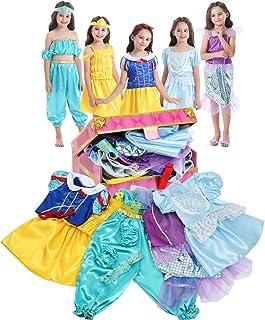 VGOFUN Girls Dress Up Trunk Princess Costume Dress وانمود می کنند که مجموعه ای از بازی را برای دختران نوپا تنظیم می کنند