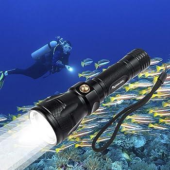 Goldenguy 1200LM Cree Xml-L2 Scuba Underwater Handheld Torch