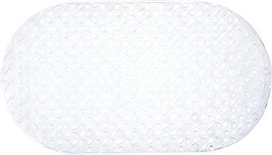 Home Basics Baño de diseño Ovalado Bayou, Ducha, Orificios de Drenaje para bañera, ventosas, Agarre Superior, Antibacteria...