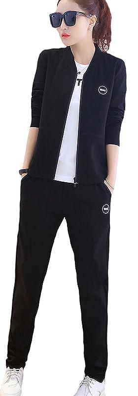 不利思春期のスタッフ(ケイミ)KEIMI レディース セットアップ ジャージ スウェット 上下セットTシャツ3点セット パーカー トレーナー ロングパンツ Tシャツ 3点セット スポーツ ウェア トレーニングウェア