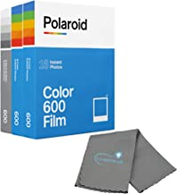 Polaroid Originals Instant Film Bundle 2 Packs Color Instant Film and 1 Pack Black and White Instant Film for 600 and i-Type Cameras Bundle Includes a Lumintrail Cleaning Cloth