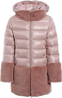 Herno Piumino Eco Fur Rosa