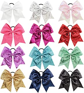 "inSowni 8"" 6"" 4.5"" 3"" Elastic Hair Bands Ties Ropes Ponytail Holder for Baby Girls Toddlers Kids"