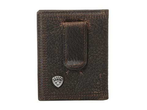 bi dinero plegable Rowdy Ariat Shield Brown Ariat Clip de SqnHXzw