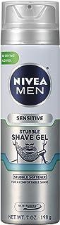 Nivea Men Sensitive Skin & Stubble Shave Gel - with Beard Softener For Men – 7 Ounce. Can