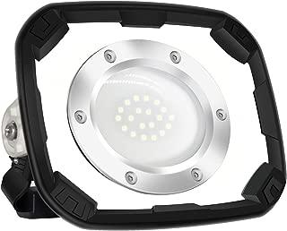 Blissporte LED Work Lamp 10w/1000Lm Brightness Japan Design SEOUL Chip Work Lighting Built-in Battery 4400mAh Rechargeable Portable Floodlight IP65 Waterproof Outdoor Lightings Plastic White Body