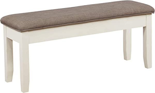 Powell S Furniture 15D8153B Jane Storage Antique White Dining Bench