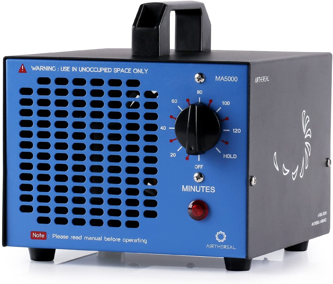 Amazon.com: Airthereal MA5000 Commercial Ozone Generator, 5000mg/h O3 Machine Home Air Ionizers Deodorizer for Rooms, Smoke, Cars and Pets, Blue : Home & Kitchen