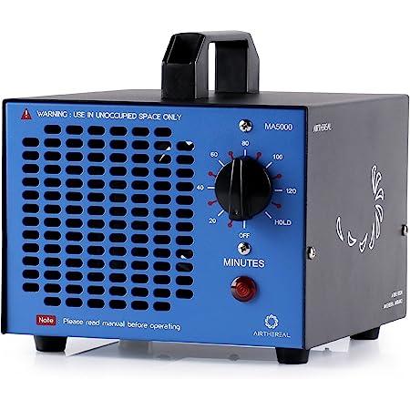 Airthereal MA5000 Generador de ozono comercial, 5000 mg/h O3 máquina ionizadores de aire para el hogar, desodorante para habitaciones, humo, coches y mascotas, azul