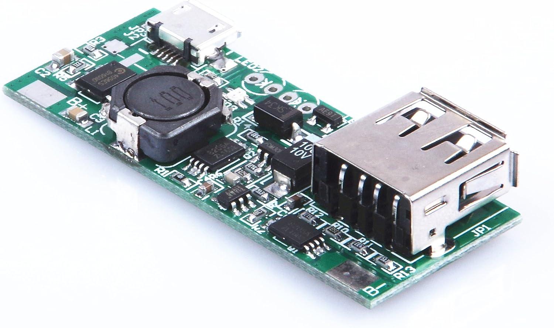 KNACRO DIY 3.7V to 5V 1A Lithium Battery Board Module Board Charger USB Mini USB Lithium Boost Module