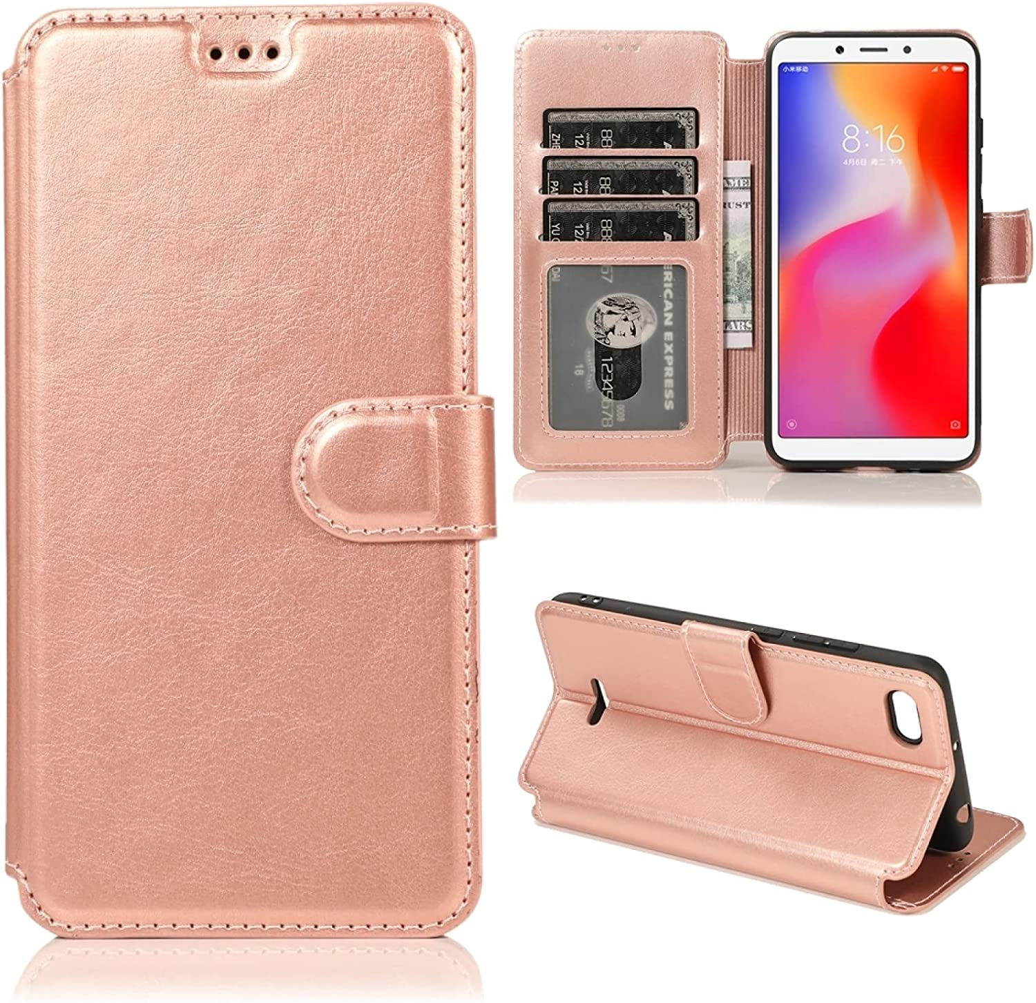 LUNCA for Xiaomi Redmi 6A Magnetic Buckle Horizonta Price reduction Quantity limited Texture Calf