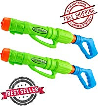 The Official Gift Shop Super Soaker Water Gun Blaster for Kids (2 Pack) Water Blaster Pool Party Fun for Kids and Everyone!