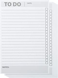 Paper Junkie 6-Pack to-Do-List Notepad Shopping List Memo Pad for Daily and Weekly Task Checklists, 60 Sheets Per Pad, 8.5 x 5.5 Inches