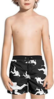 Ouxioaz Boys Swim Trunk Tiger Pattern Beach Board Shorts