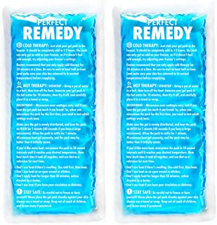 Gel Ice Packs for Injuries (2 Pack) – Reusable Cold/Hot Compress for Injury, Pain..