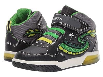 Geox Kids Jr Inek 7 (Little Kid/Big Kid) (Black/Green) Boys Shoes