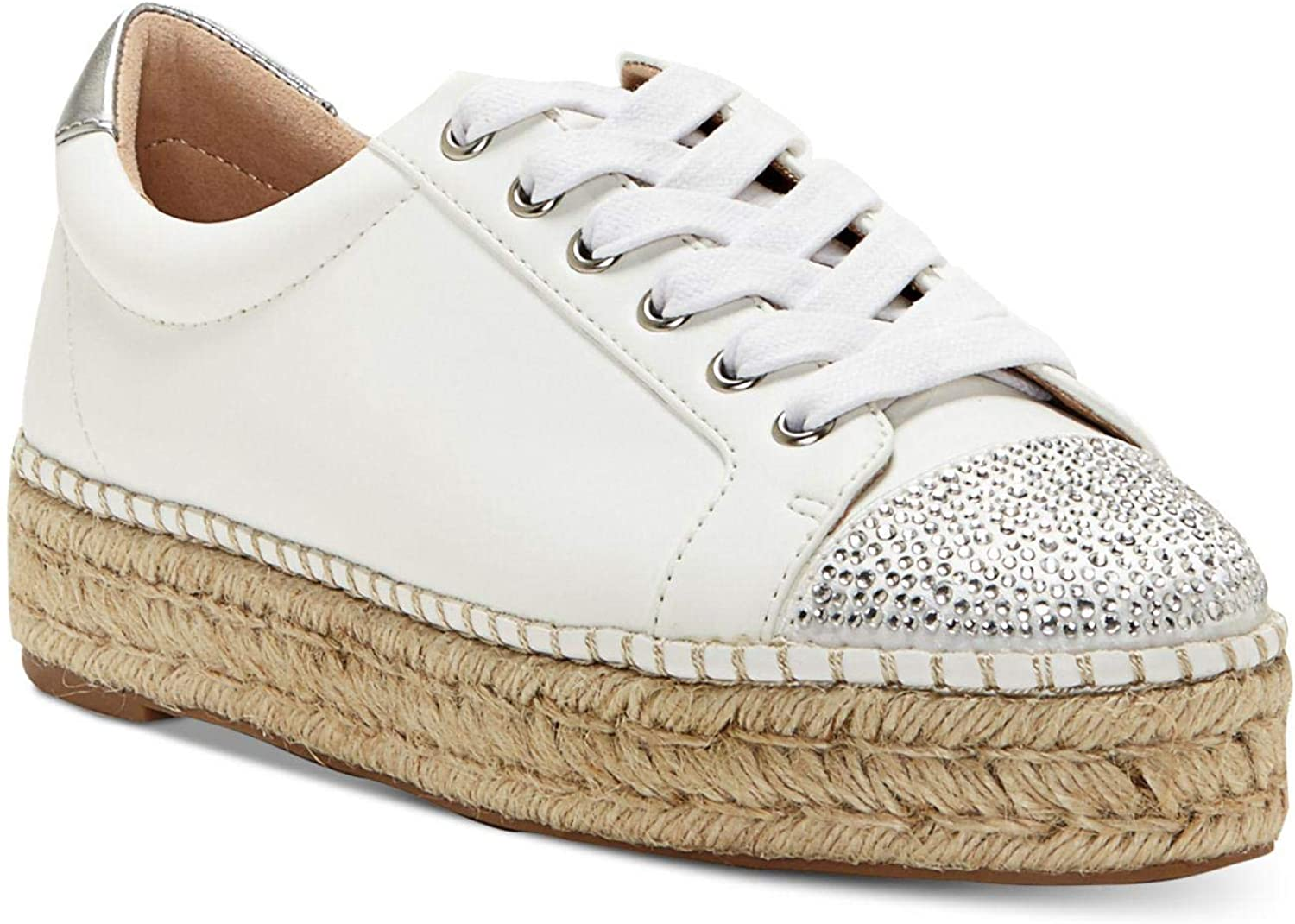 INC International Concepts Womens Eliza Leather Low Top Lace Up Fashion Sneak.