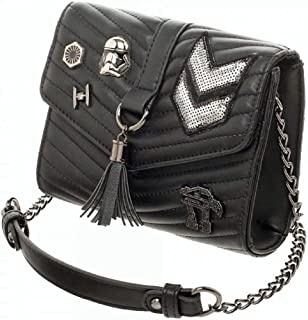 Star Wars Galactic Empire Dark Side Quilted Crossbody Bag With Tassel