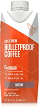 Bulletproof Mocha Cold Brew Coffee, Keto Diet Friendly, Sugar Free, non-GMO, organic, with Brain Octane oil and Grass-fed Butter (12-Pack)