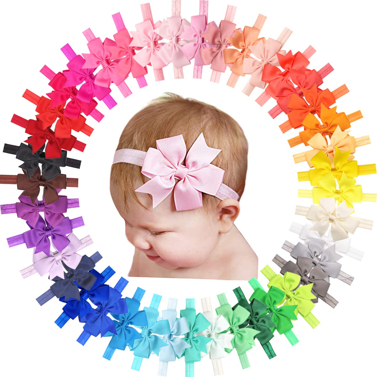 40 Colors Financial sales sale Baby Girls Headbands with Soft 3