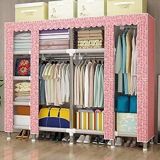HWG Armoires en Tissu Armoire Penderie Installation Simple avec 3 Tringles à Vêtements Et 9 étagères pour Chambre à Couche...
