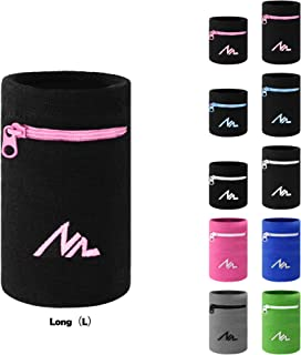 NEWZILL Wrist Wallet (Wristband) with Zipper - for...