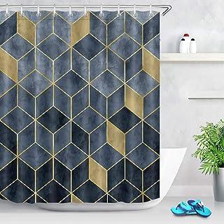 Negro Modelo de mármol Textura del Fondo de la Cortina de Ducha Impermeable del Cuarto de baño decoración Cuarto de baño T...