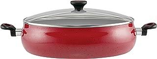 Paula Deen 13267 Riverbend Nonstick Dish/Casserole Pan, 13.75 Inch, Red Speckle