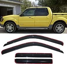 Deebior 4pcs In-Channel Style Sun Rain Guard Vent Shade Side Window Visors Wind Deflectors for 2001-2005 Ford Explorer Sport Trac 1997-2001 Mercury Mountaineer 4-Door