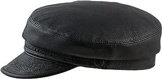 Sterkowski Genuine Leather Crinkled Bill Maciejówka Breton Style Cap
