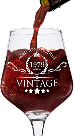 featured product 1979 40th Birthday Gifts for Women and Men Wine Glass - Vintage Funny Anniversary Gift Ideas for Mom,  Dad,  Husband,  Wife - 40 Years Gifts,  Party Favors,  Decorations for Him or Her - 12.75oz