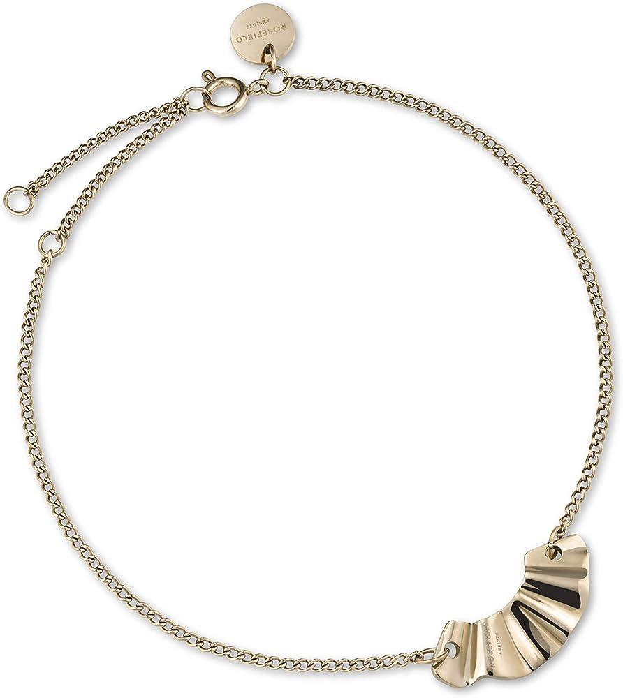 Rosefield, braccialetto per donna, in acciaio inossidabile placcato oro 18 kt BLWBG-J236