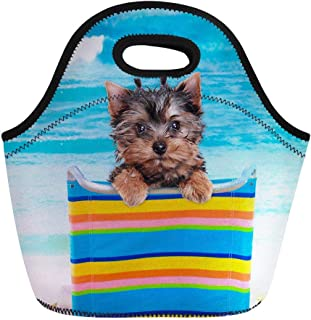 Yorkshire Terrier Tote Lunch Bag Insulated Women Girls Picnic Lunch Box