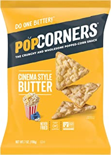 PopCorners Cinema Style Butter Snack | Gluten Free Snack | (12 Pack, 7 oz Snack Bags)