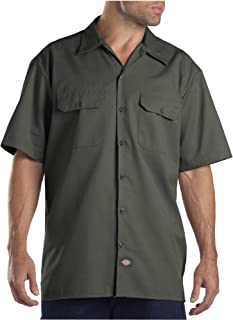 Dickies 1574OG S Mens Short Sleeve Work Shirt, Olive...