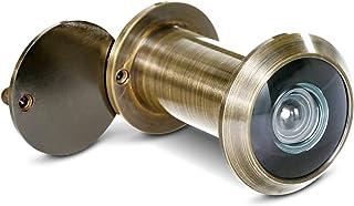 comprar comparacion Stoppwerk Mirilla para puerta en estilo antiguo para hojas de puerta de 35-55 mm con gran angular de 200 ° y tapa