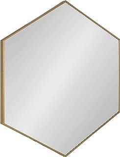 hexagon mirror brass