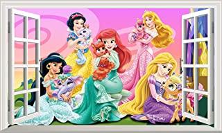 Chicbanners Disney Princesas Princesas Mascotas V004 Magic Ventana Pegatina de Pared autoadhesiva Póster de Pared Tamaño 1000 mm de Ancho x 600 mm de Profundidad (Grande)