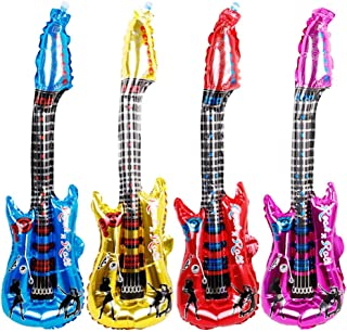 24 Pcs Inflatable Guitar, 11.8 x 31.5 Inch Foil Guitar Balloon for Party Decoration